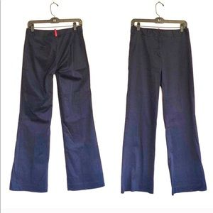 PAGE Unlined Flat Front Mid Rise Flare Trousers
